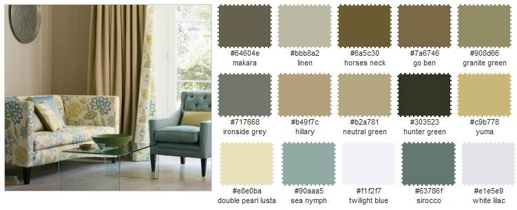 Colour schemes for Neutral color interior design