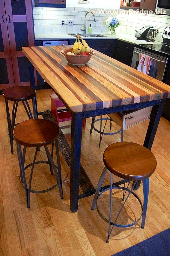 Modern Butcher Block Kitchen Island Ideas - 567 x853