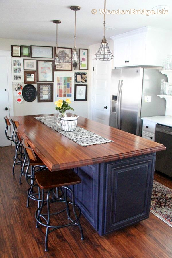 Modern Butcher Block Kitchen Island Ideas - 600 x900