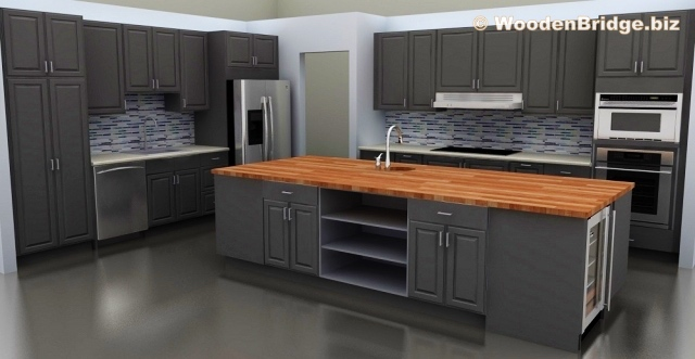 Modern Butcher Block Kitchen Island Ideas - 640 x331
