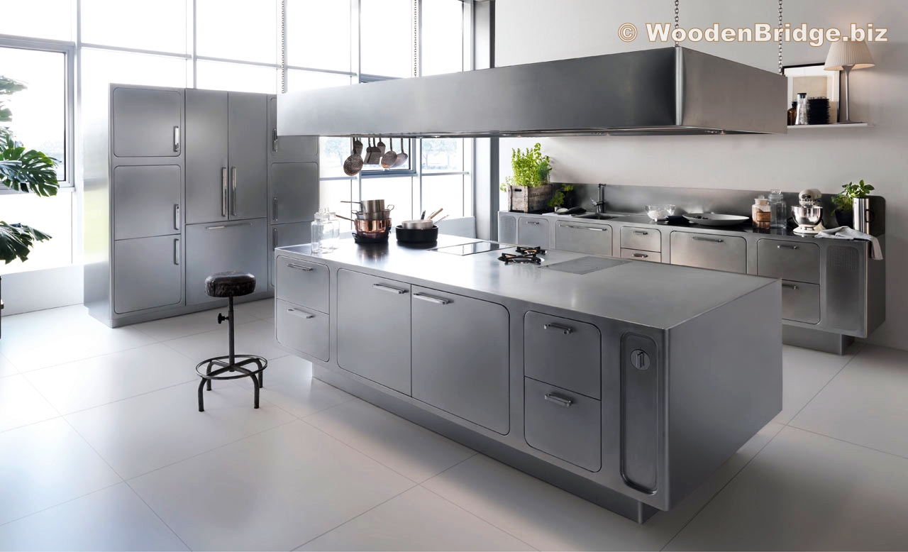 Modern Stainless Steel Kitchen Cabinets Ideas - 1280 x 778
