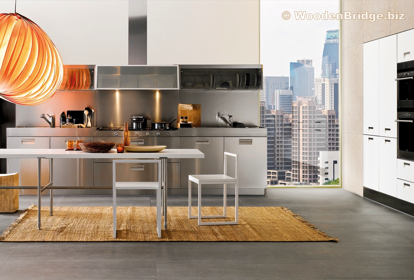 Modern Stainless Steel Kitchen Cabinets Ideas - 1330 x 900