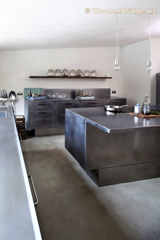 Modern Stainless Steel Kitchen Cabinets Ideas - 2309 x 3464
