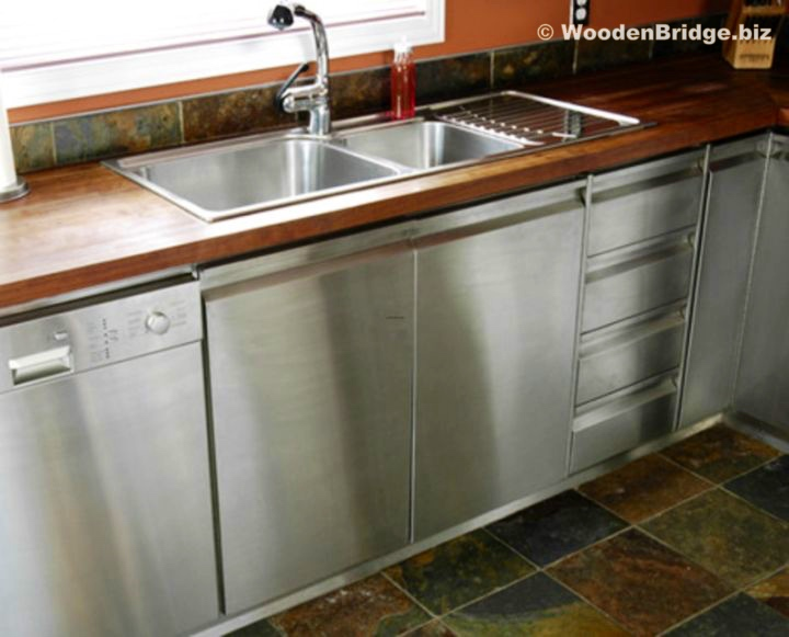 Modern Stainless Steel Kitchen Cabinets Ideas - 720 x 581