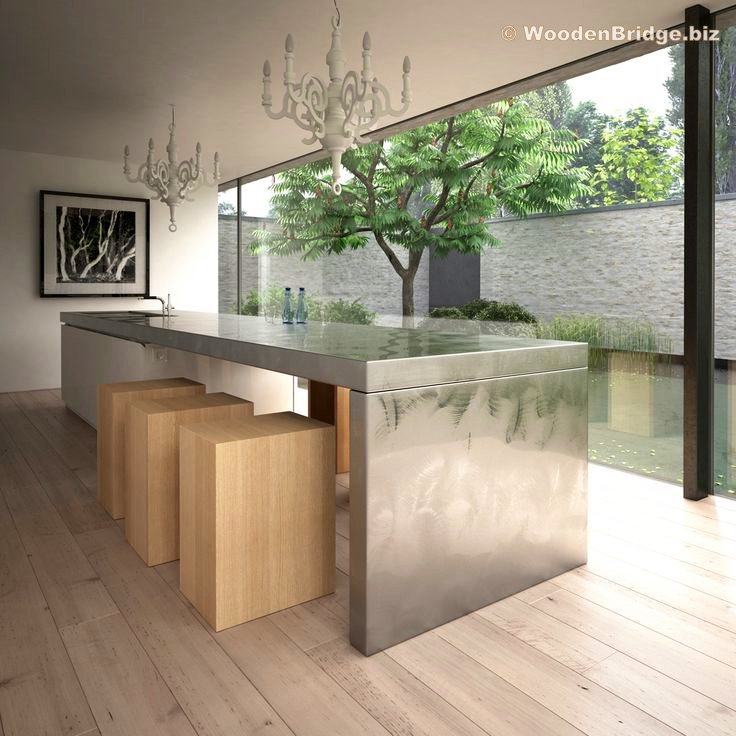 Modern Stainless Steel Kitchen Cabinets Ideas - 736 x 736