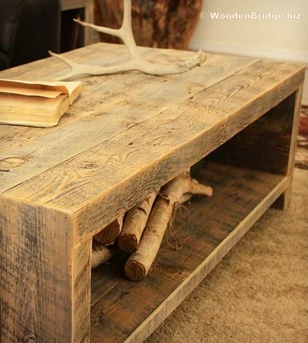 Reclaimed Wood Coffee Tables Ideas - 444 x 493