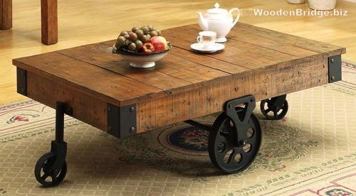 Reclaimed Wood Coffee Tables Ideas – 500 x 276