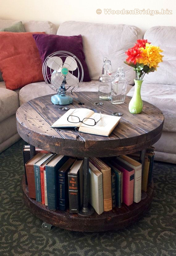 Reclaimed Wood Coffee Tables Ideas – 570 x 827