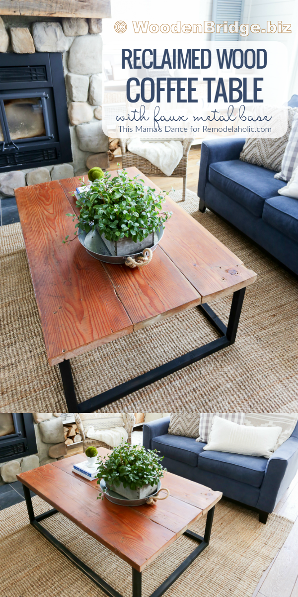Reclaimed Wood Coffee Tables Ideas - 600 x 1200
