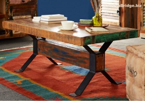 Reclaimed Wood Coffee Tables Ideas - 600 x 416