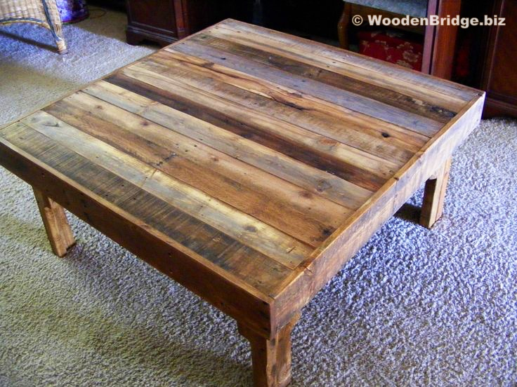 Reclaimed Wood Coffee Tables Ideas - 736 x 552