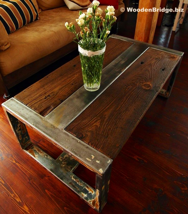 Reclaimed Wood Coffee Tables Ideas - 736 x 837