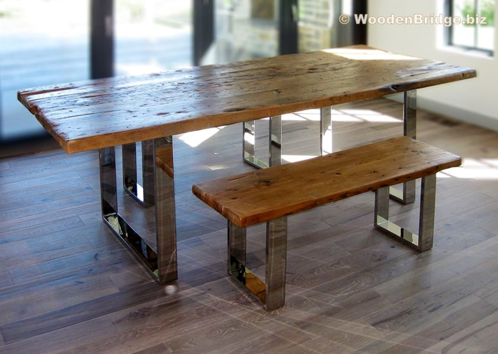 Reclaimed Wood Dining Table Ideas - 1093 x 778