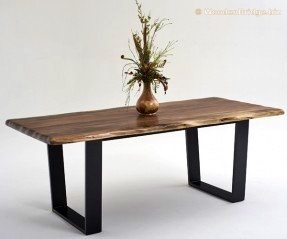 Reclaimed Wood Dining Table Ideas - 287 x 239