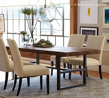 Reclaimed Wood Dining Table Ideas - 383 x 344