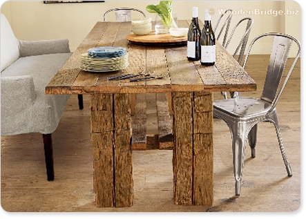 Reclaimed Wood Dining Table Ideas - 443 x 317 1