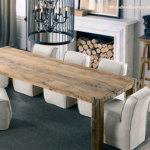 Reclaimed Wood Dining Table Ideas - 454 x 419
