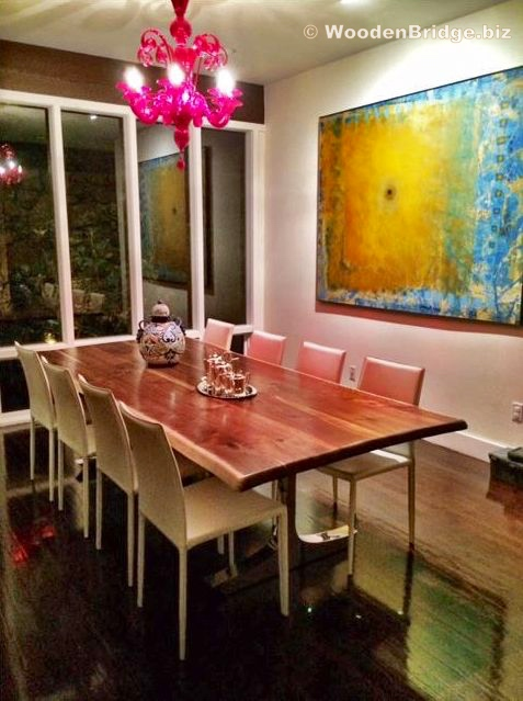 Reclaimed Wood Dining Table Ideas - 477 x 639
