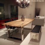 Reclaimed Wood Dining Table Ideas - 530 x 560