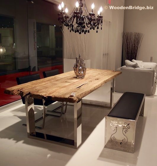Reclaimed Wood Dining Table Ideas – 530 x 560