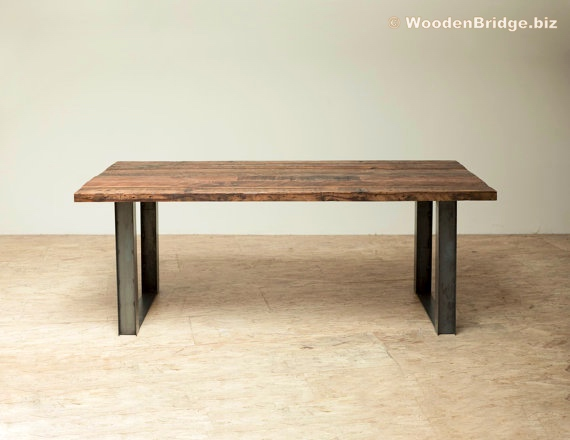 Reclaimed Wood Dining Table Ideas - 570 x 440