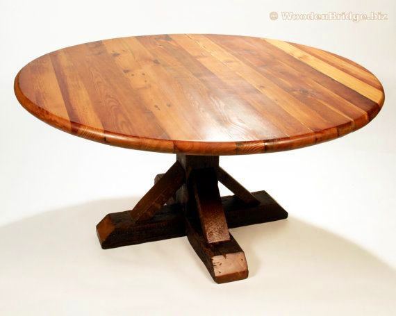 Reclaimed Wood Dining Table Ideas - 570 x 455