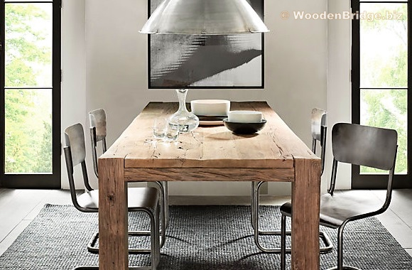 Reclaimed Wood Dining Table Ideas – 580 x 380