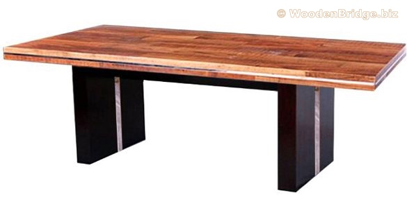 Reclaimed Wood Dining Table Ideas - 585 x 291