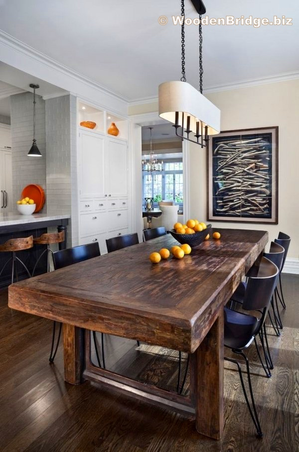 Reclaimed Wood Dining Table Ideas - 600 x 906