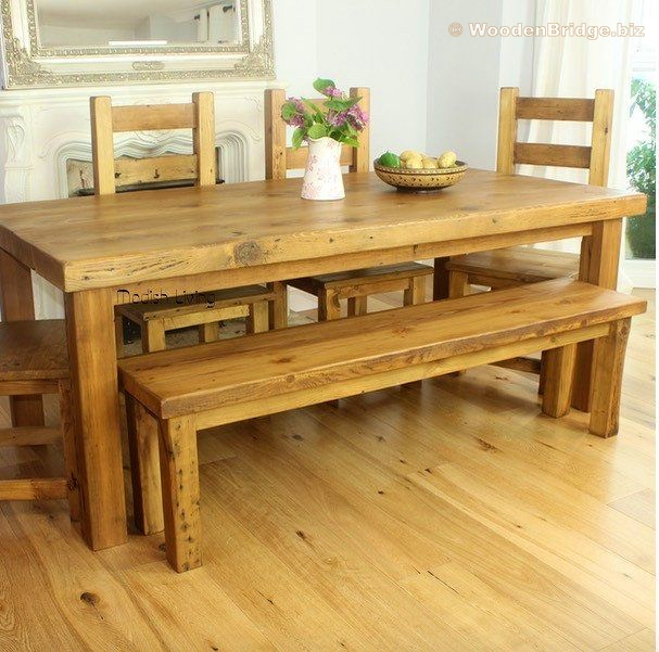 Reclaimed Wood Dining Table Ideas - 607 x 601