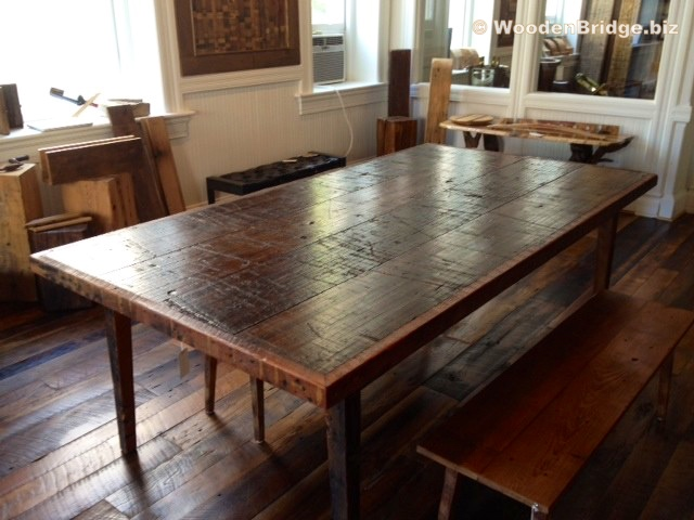 Reclaimed Wood Dining Table Ideas – 640 x 480
