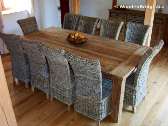 Reclaimed Wood Dining Table Ideas - 700 x 528