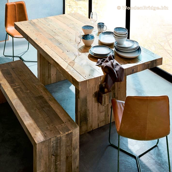 Reclaimed Wood Dining Table Ideas – 710 x 710