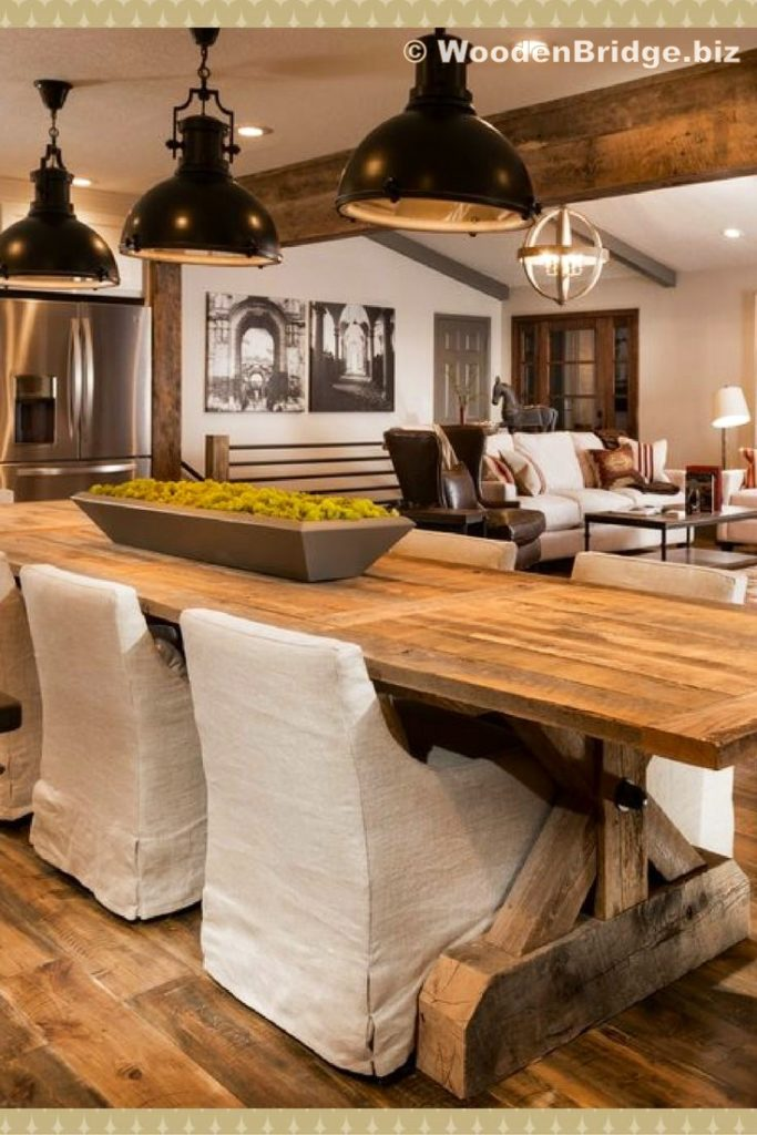Reclaimed Wood Dining Table Ideas - 735 x 1102