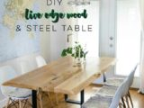 Reclaimed Wood Dining Table Ideas – 736 x 1048
