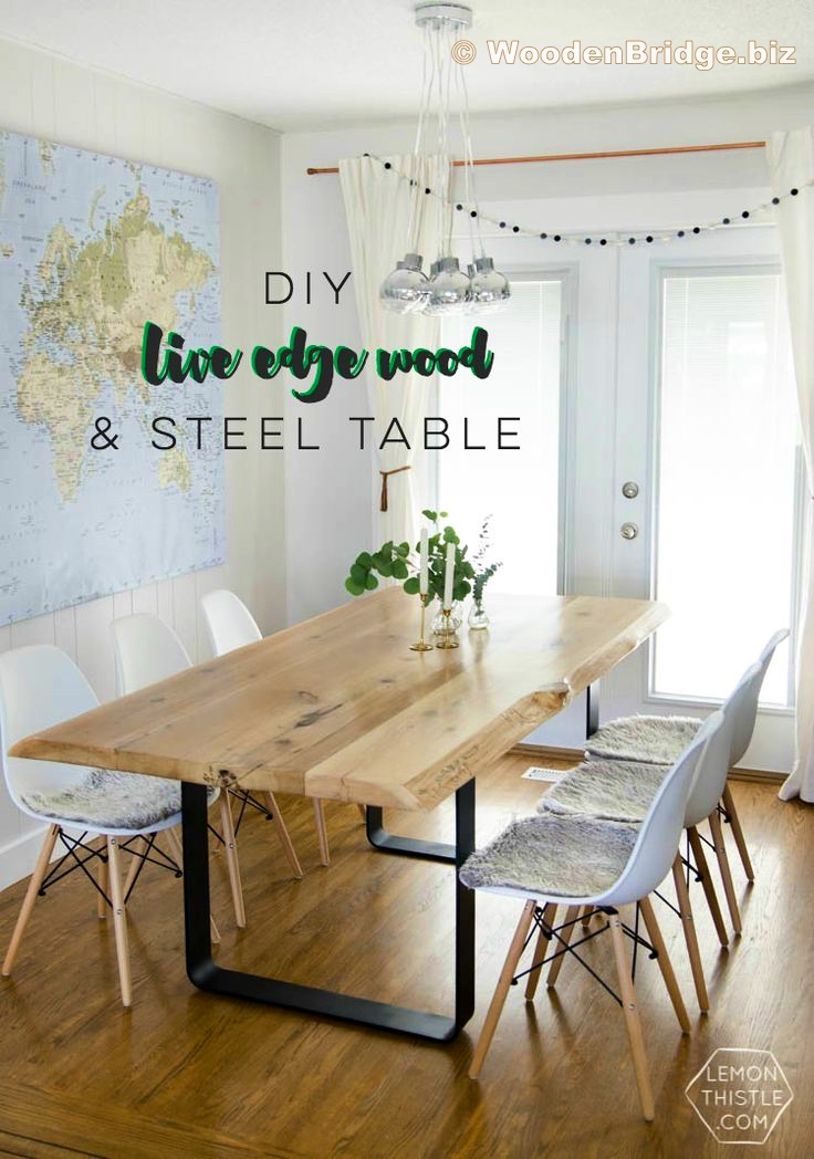 Reclaimed Wood Dining Table Ideas - 736 x 1048