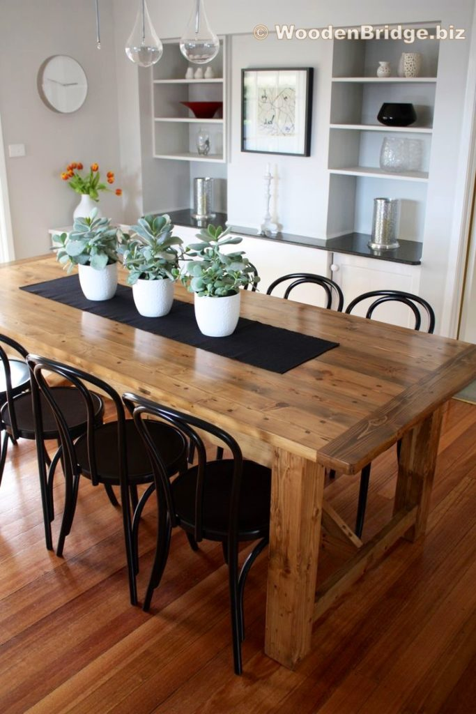 Reclaimed Wood Dining Table Ideas - 736 x 1104
