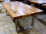 Reclaimed Wood Dining Table Ideas – 736 x 560
