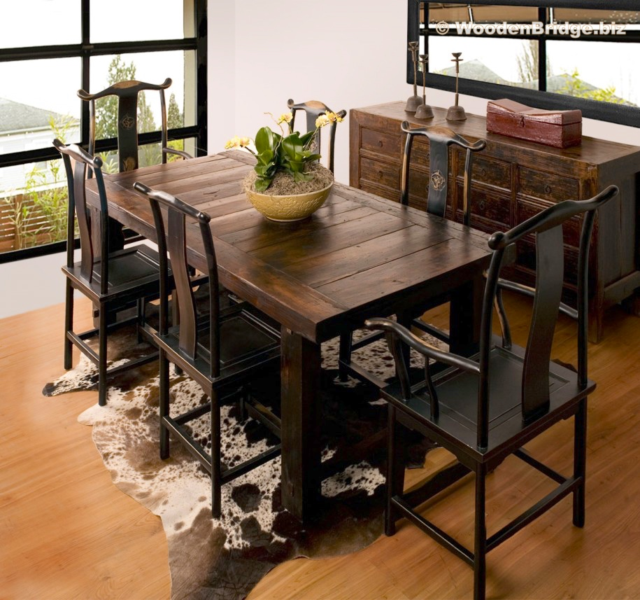 Reclaimed Wood Dining Table Ideas – 915 x 857