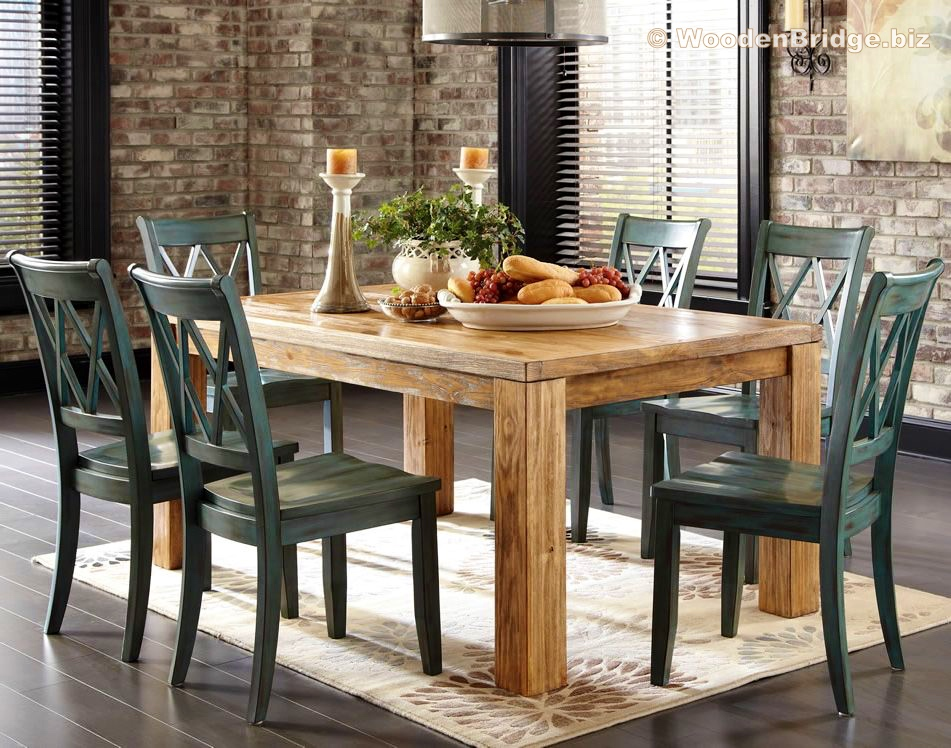 Reclaimed Wood Dining Table Ideas - 951 x 748