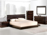 13124 contemporary dark wood bedroom furniture