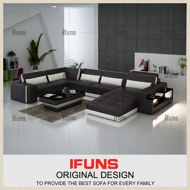 IFUNS luxury sofa sets u shaped top grain italian font b real b font leather sofa