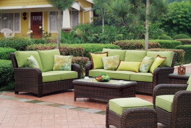 best painted bamboo furniture garden ideas