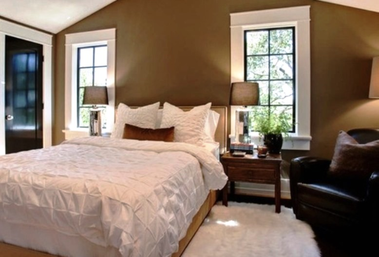 chocolate brown and cream bedroom ideas
