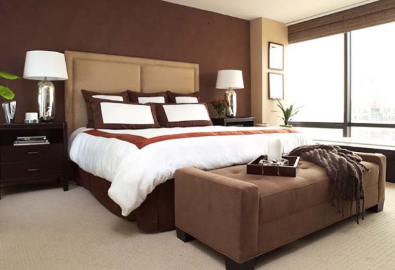 chocolate brown bedroom decorating ideas