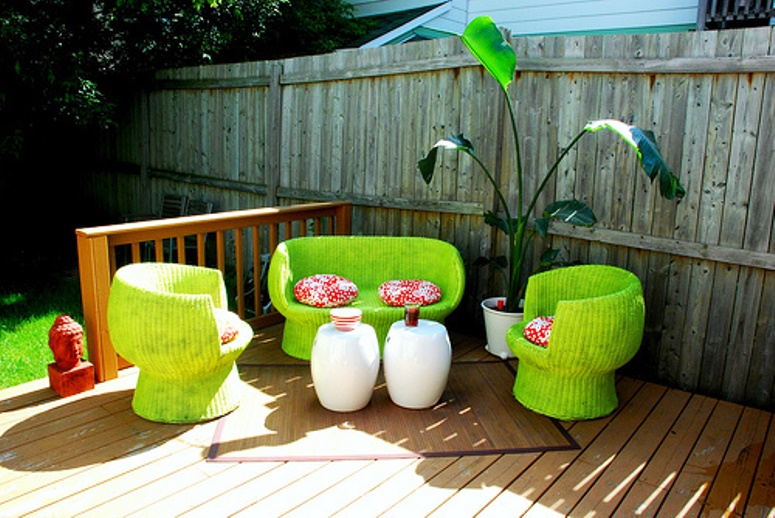 painted bamboo furniture ideas