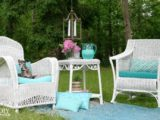painted bamboo outdoor furniture ideas