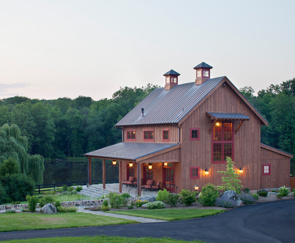 Pole barn house plans at for Barn type homes