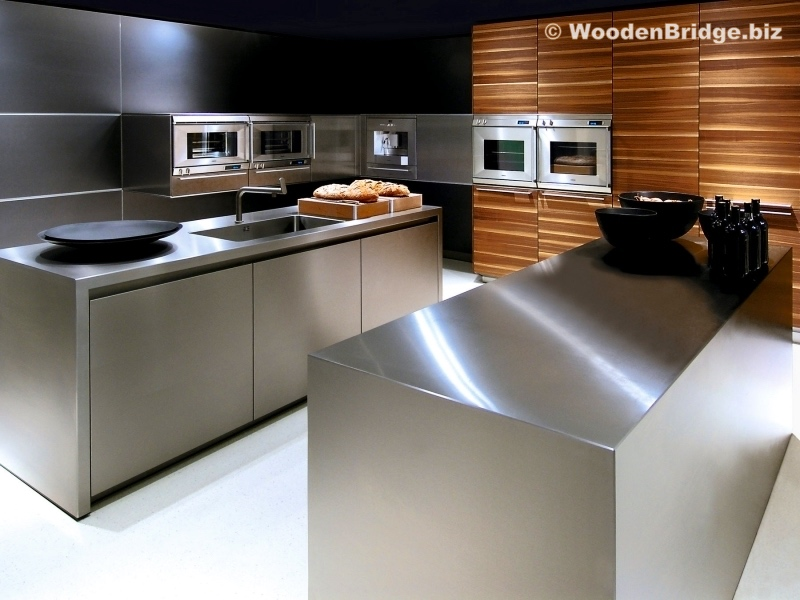 Modern Stainless Steel Kitchen Cabinets Ideas - 800 x 600 2