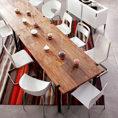 Reclaimed Wood Dining Table Ideas - 395 x 395
